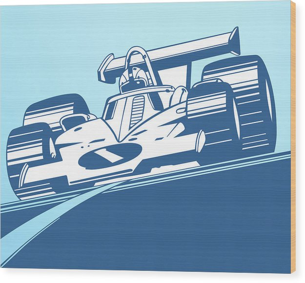 Indy 500 Race Car For Kids - Wood Print from Wallasso - The Wall Art Superstore