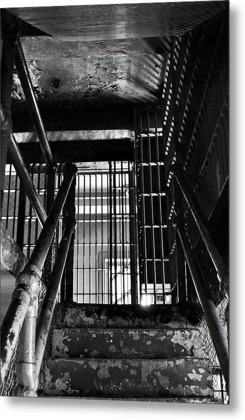 Inside An Abandoned Prison - Metal Print from Wallasso - The Wall Art Superstore