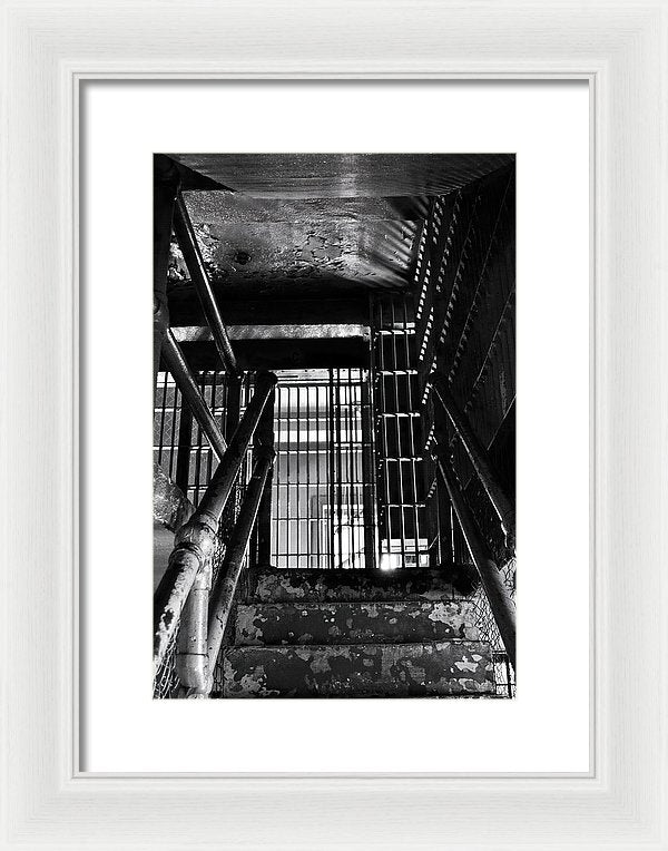 Inside An Abandoned Prison - Framed Print from Wallasso - The Wall Art Superstore