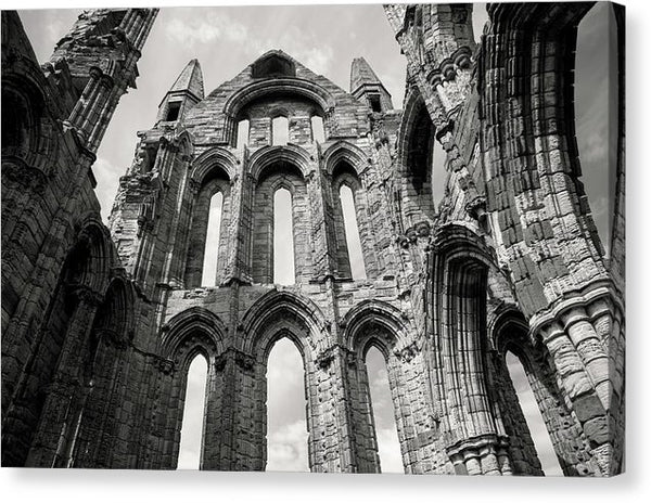 Inside The Abandoned Whitby Abbey Church - Canvas Print from Wallasso - The Wall Art Superstore