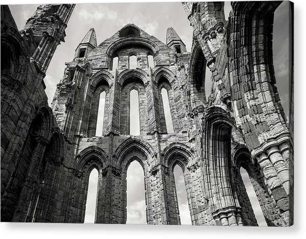 Inside The Abandoned Whitby Abbey Church - Acrylic Print from Wallasso - The Wall Art Superstore