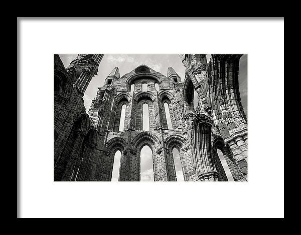 Inside The Abandoned Whitby Abbey Church - Framed Print from Wallasso - The Wall Art Superstore