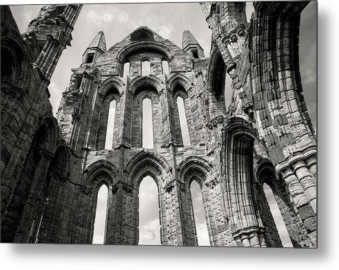 Inside The Abandoned Whitby Abbey Church - Metal Print from Wallasso - The Wall Art Superstore