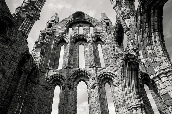 Inside The Abandoned Whitby Abbey Church - Art Print from Wallasso - The Wall Art Superstore