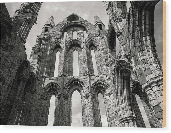 Inside The Abandoned Whitby Abbey Church - Wood Print from Wallasso - The Wall Art Superstore