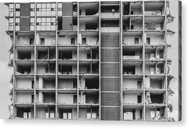 Inside View of Apartment Building Being Demolished - Acrylic Print from Wallasso - The Wall Art Superstore