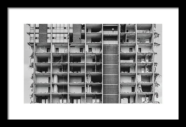 Inside View of Apartment Building Being Demolished - Framed Print from Wallasso - The Wall Art Superstore