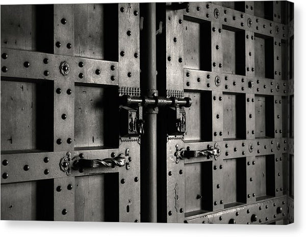 Iron Metal Door Closeup - Canvas Print from Wallasso - The Wall Art Superstore