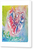 Mi Corazon by Jessica Contreras - Canvas Print from Wallasso - The Wall Art Superstore