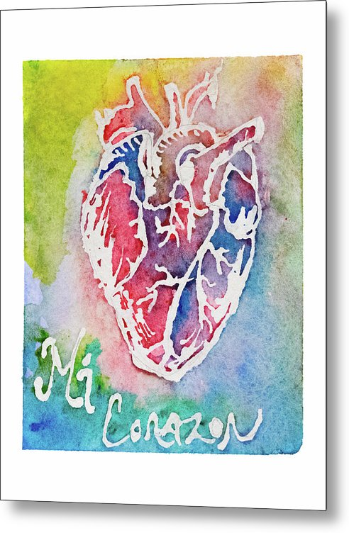 Mi Corazon by Jessica Contreras - Metal Print from Wallasso - The Wall Art Superstore