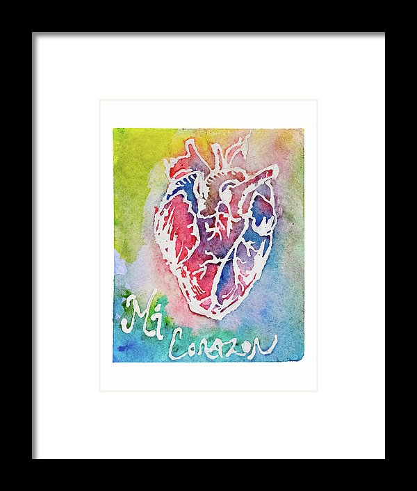 Mi Corazon by Jessica Contreras - Framed Print from Wallasso - The Wall Art Superstore