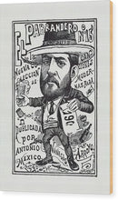 A Vendor of A New Collection of Songs by Jose Guadalupe Posada, Ca. 1900 - Wood Print from Wallasso - The Wall Art Superstore