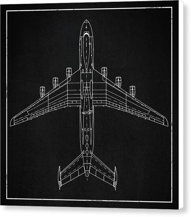 Jumbo Jet Airplane Design - Canvas Print from Wallasso - The Wall Art Superstore