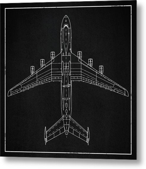 Jumbo Jet Airplane Design - Metal Print from Wallasso - The Wall Art Superstore
