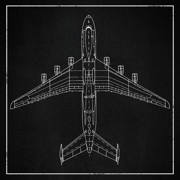 Jumbo Jet Airplane Design - Art Print from Wallasso - The Wall Art Superstore