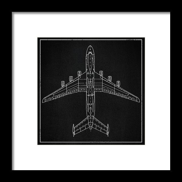 Jumbo Jet Airplane Design - Framed Print from Wallasso - The Wall Art Superstore