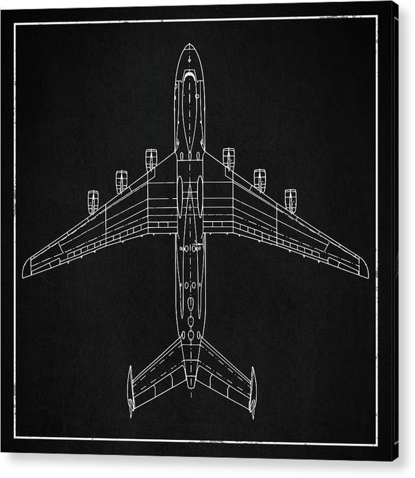 Jumbo Jet Airplane Design - Acrylic Print from Wallasso - The Wall Art Superstore