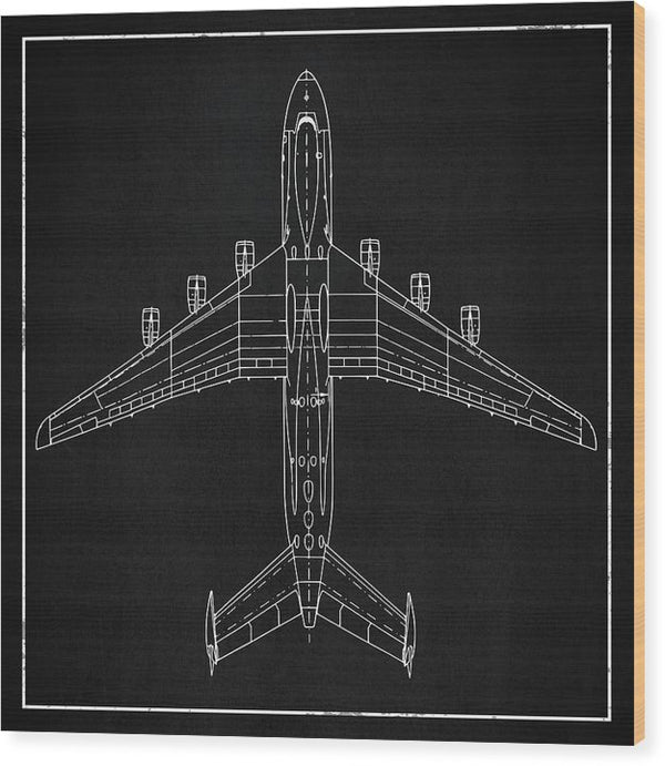 Jumbo Jet Airplane Design - Wood Print from Wallasso - The Wall Art Superstore