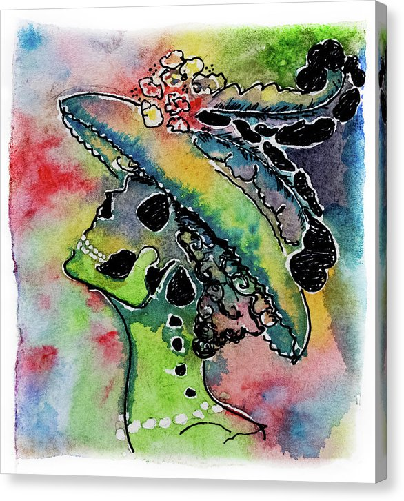 La Catrina by Jessica Contreras - Canvas Print from Wallasso - The Wall Art Superstore