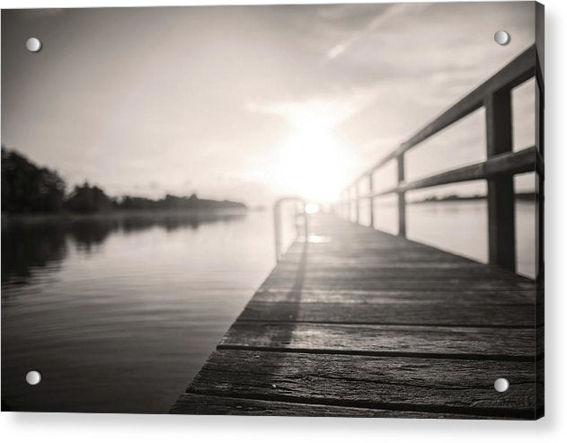 Lakeside Boardwalk At Sunset - Acrylic Print from Wallasso - The Wall Art Superstore