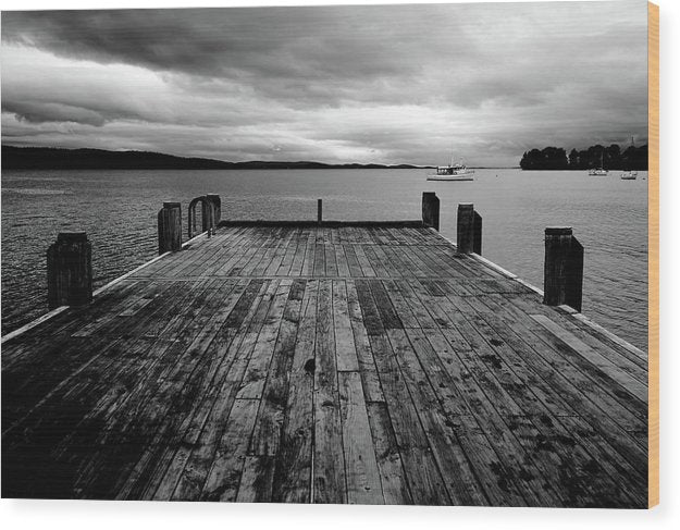 Lakeside Dock - Wood Print from Wallasso - The Wall Art Superstore