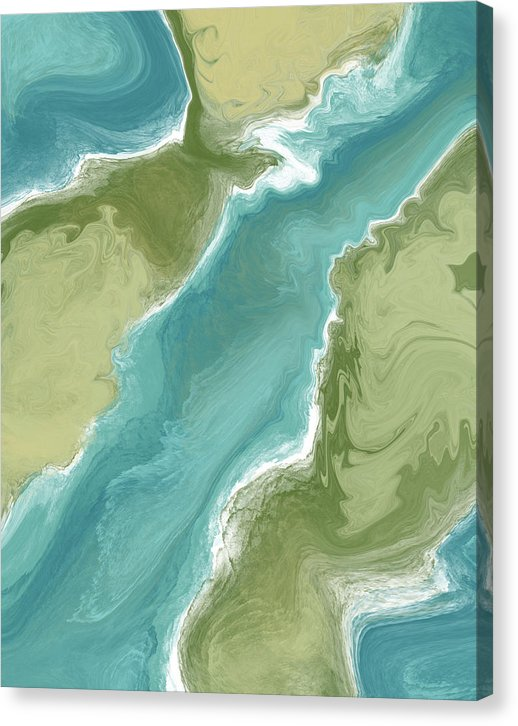Land and Sea Abstract Acrylic by Jessica Contreras - Canvas Print from Wallasso - The Wall Art Superstore