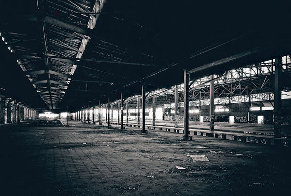 Large Abandoned Warehouse - Art Print from Wallasso - The Wall Art Superstore