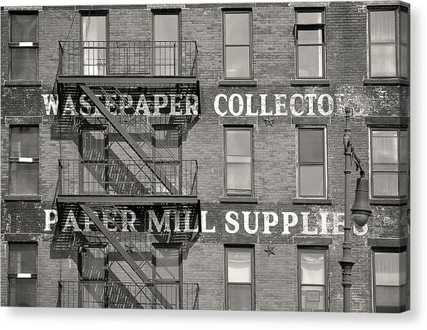 Large Brick Wall With Fire Escape - Canvas Print from Wallasso - The Wall Art Superstore