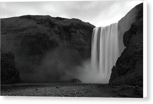 Large Icelandic Waterfall - Canvas Print from Wallasso - The Wall Art Superstore