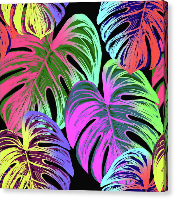 Large Tropical Boho Leaves - Canvas Print from Wallasso - The Wall Art Superstore