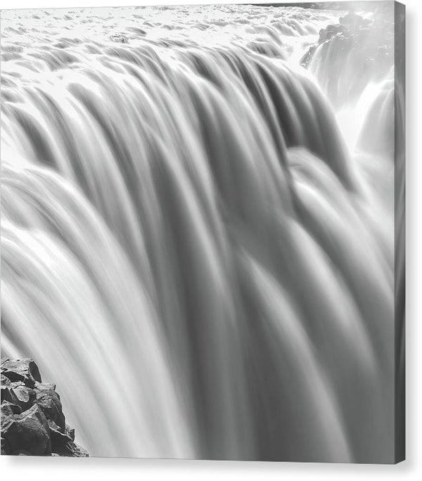 Large Waterfall Long Exposure, Square - Canvas Print from Wallasso - The Wall Art Superstore