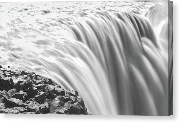 Large Waterfall Long Exposure - Canvas Print from Wallasso - The Wall Art Superstore