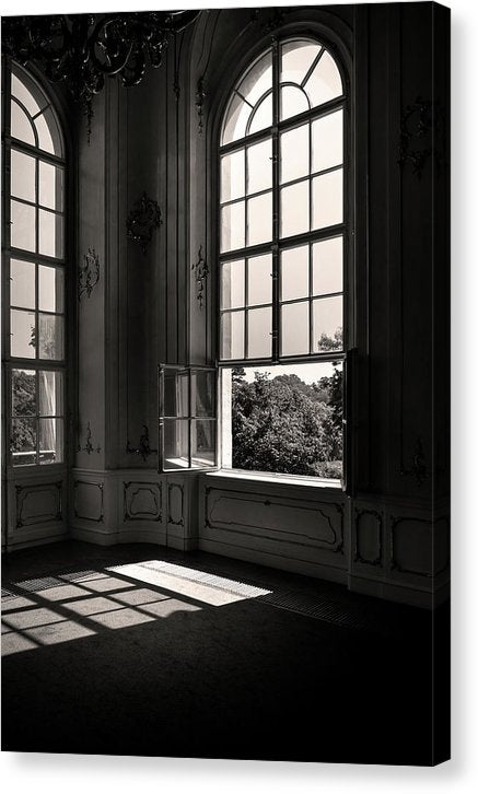 Large Window In French Chateau - Canvas Print from Wallasso - The Wall Art Superstore