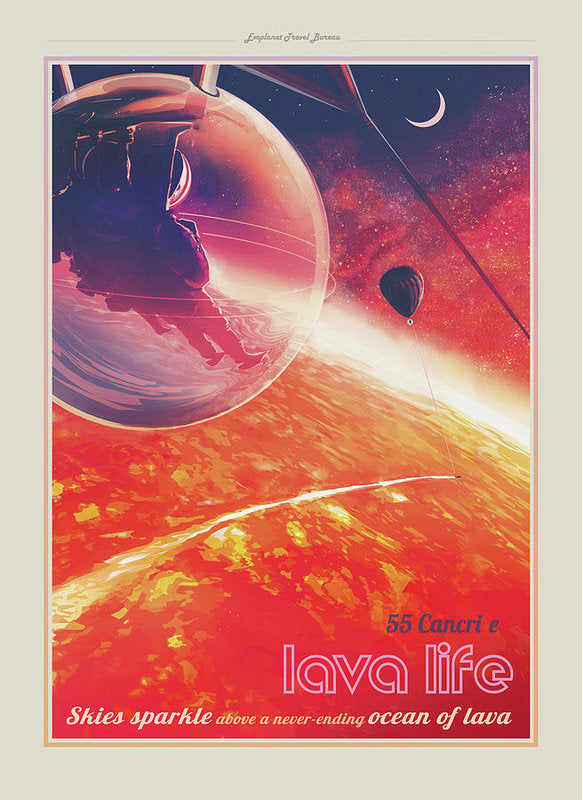 Lava Life Visions of The Future Vintage Travel Poster - Art Print from Wallasso - The Wall Art Superstore