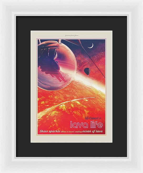 Lava Life Visions of The Future Vintage Travel Poster - Framed Print from Wallasso - The Wall Art Superstore