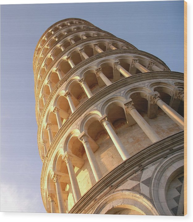 Leaning Tower of Pisa - Wood Print from Wallasso - The Wall Art Superstore