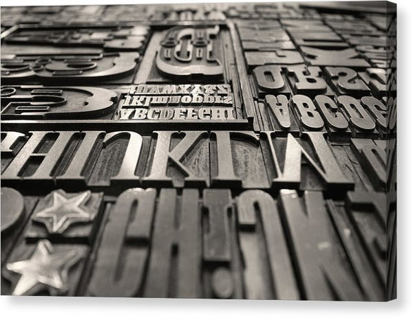 Letterpress Printing Plates - Canvas Print from Wallasso - The Wall Art Superstore