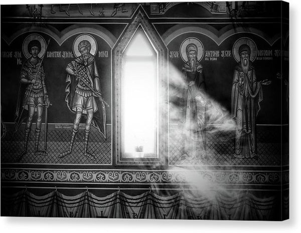 Light Streaming Through Ancient Church Window - Canvas Print from Wallasso - The Wall Art Superstore