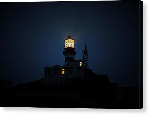 Lighthouse At Night - Canvas Print from Wallasso - The Wall Art Superstore