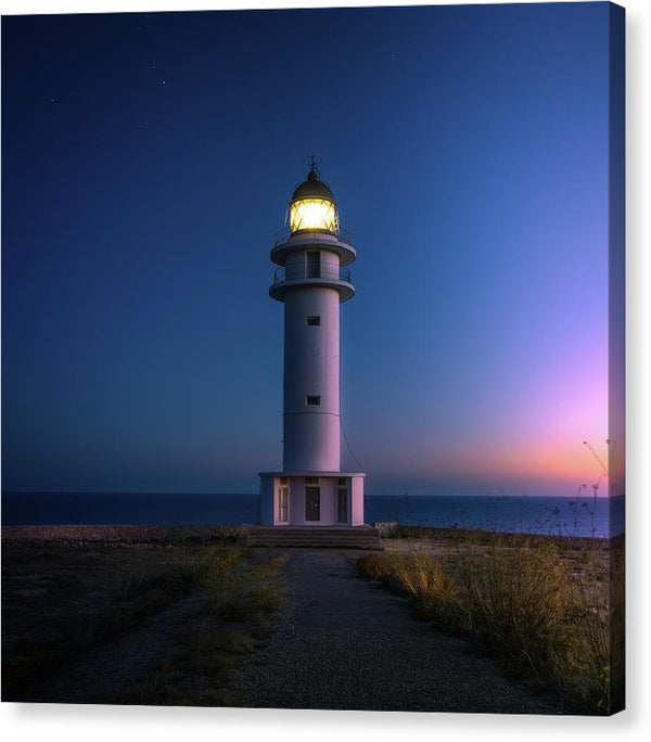 Lighthouse At Sunrise - Canvas Print from Wallasso - The Wall Art Superstore