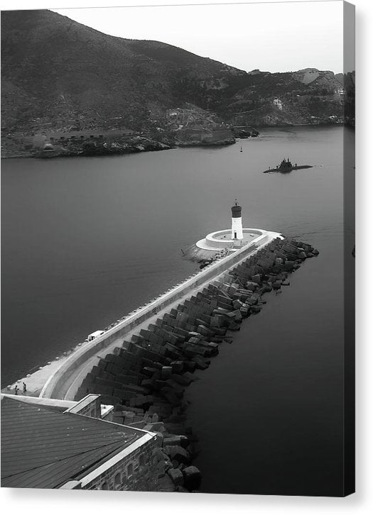 Lighthouse In Cartagena, Spain - Canvas Print from Wallasso - The Wall Art Superstore