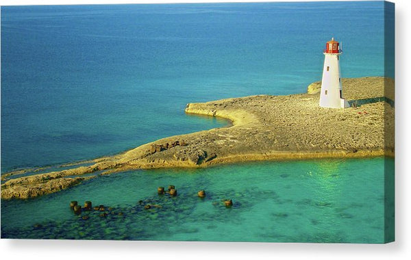 Lighthouse On Emerald Waters - Canvas Print from Wallasso - The Wall Art Superstore