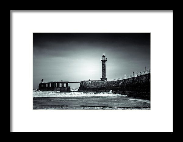 Lighthouse On Pier - Framed Print from Wallasso - The Wall Art Superstore