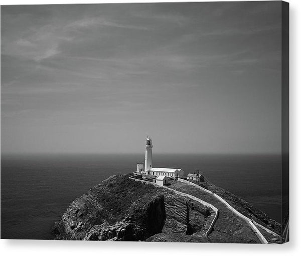 Lighthouse Overlooking The Sea - Canvas Print from Wallasso - The Wall Art Superstore