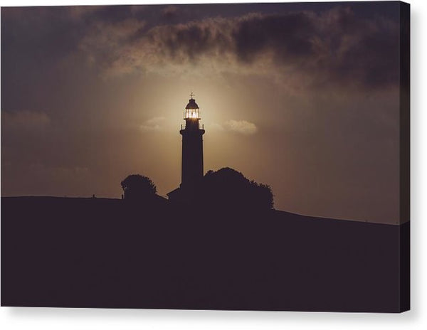 Lighthouse Silhouette - Canvas Print from Wallasso - The Wall Art Superstore