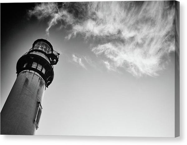 Lighthouse With Clouds - Canvas Print from Wallasso - The Wall Art Superstore