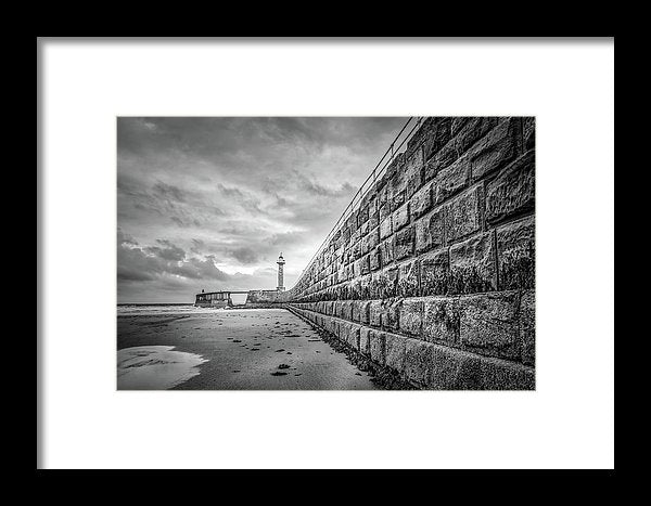 Lighthouse With Pier Wall - Framed Print from Wallasso - The Wall Art Superstore