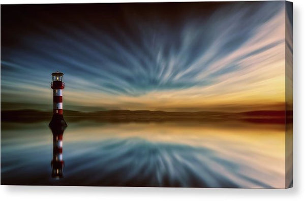 Lighthouse With Reflected Sky - Canvas Print from Wallasso - The Wall Art Superstore
