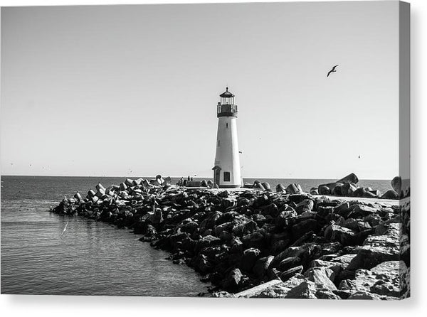 Lighthouse With Rocks - Canvas Print from Wallasso - The Wall Art Superstore
