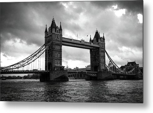 London's Tower Bridge, Black and White - Metal Print from Wallasso - The Wall Art Superstore